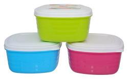 Regalo Plastic Container Set, 500 ml, 3-Piece