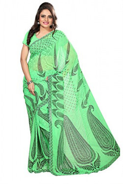 Florence Saree with Blouse Piece (FL-3178-A_Green_Free Size)