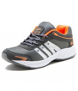Lancer Men's Grey Orange Synthetic Sports Shoes-8 Uk