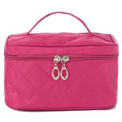 UberLyfe Cosmetic Bag cum Travel Organizer - Perfect for Weddings- Hot Pink (1152-PK)