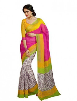 Janasya women's multi-coloured Bhagalpuri Silk Printed Sarees (JNE0346-C)