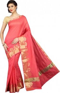Divastri Printed Banarasi Polyester Saree