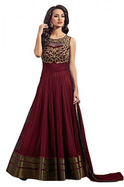 Ladies4Zone woman's Embroidery Gorgette Anarkali Dresses gown (Anarkali 8)
