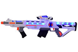 Planet Of Toys Space 2 In 1 Extension Gun (With Led Lights And Sounds)
