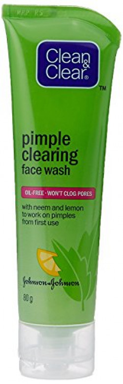 Clean and Clear Face Wash, Pimple Clearing, 80ml
