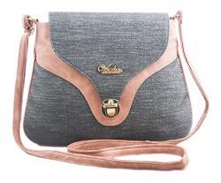 Voaka Women's Peach-Grey Sling Bag