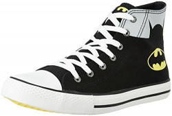 Batman Men's Black and Grey Sneakers - 10 UK/India (45 EU)
