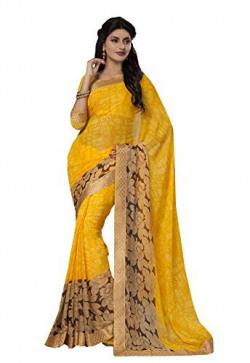 Ishin Faux Georgette Saree (Ishin-18014_Yellow)