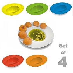Inovera Pani Puri Serving Dish Bowl Plate-Set of 4, Assorted