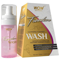 WOW Feminine Cleansing Foam Wash, Lactic Acid and Tea Tree Oil, 60ml