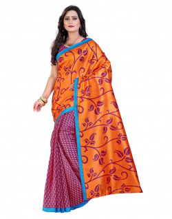 E-Vastram Saree (Ns16Peach_Maroon)