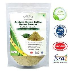 Sinew Nutrition Arabica Green Coffee Beans Powder 800gm, Decaffeinated & Unroasted Arabica Coffee for Weight Management