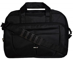 Ideal® Classic File Black Bag 15 Inch with Removable Shoulder Strap Handle Office/Travelling Casual Bag