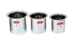 Aristo Gunj Steel Boiler, 800 ml to 1.6 Litres, 3 Pieces, Silver
