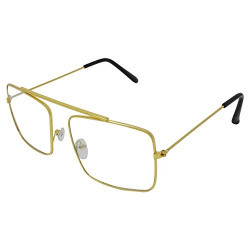 Silver Kartz Rectangular Unisex Sunglasses (Wy-147|55|Clear)