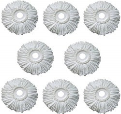 Royal Export Microfiber Spin Mop Refill (White, Pack of 8)