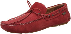 Red Tape Men's Red Leather Loafers and Mocassins - 7 UK/India (41 EU)