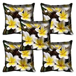 meSleep Flower 037-05 Digitally Printed Cushion Cover (16x16) - Set of 5
