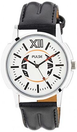 Pulse Analog White Dial Men's Watch - PL0302