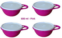 Tupperware Plastic Bowl Set, 600ml, Set of 4, Multicolour