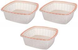 Nayasa Plastic Basket Set, Set of 3, Orange