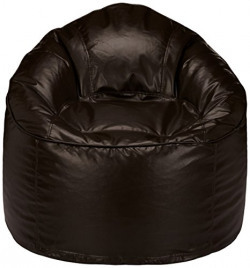 Solimo Mudda XXXL Bean Bag Cover without Beans (Brown)