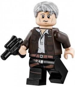 Lego Star Wars Millennium Falcon Minifigure - Han Solo With Grey Hair