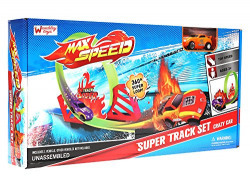 Wembley Max Speed Super Track Set with 360º Loop and Pull Back Rotating Car