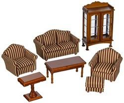 Melissa & Doug 2581 Doll-House Furniture- Living Room Set