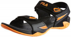 Fila Women's Dell Black and Orange Athletic and Outdoor Sandals -5 UK/India (39 EU)