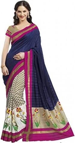 Ankita Fashion Multicolor Bhagalpuri Cotton Silk Saree With Blouse Piece