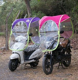 Best Deals - Bike and scooter sun canopy umbrella wind proof and water resistance umbrella