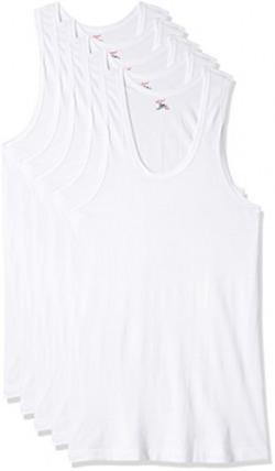 Rupa Jon Men's Cotton Vest (Pack of 5) (8903978687490_JN VEST RN _80_White)