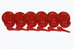 Sugam Soupset18pcs-Red Serving Bowl Pack of 18 Dinner Set