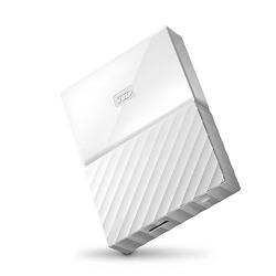 WD My Passport 2TB USB 3.0 Portable External Hard Drive (White)