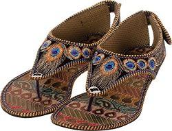 Thari Choice Woman Ethic Flat Stylish Slipper (42, Multi Colored (1)).......... Sku : Cmp 42