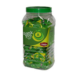Peace Candies- Thank you- Kaccha aam Flavour Candies 440 gm- Pack Of 100 + 10 Pcs Free in a Jar…