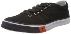 Sparx Men's Black Canvas Sneakers - 8 UK