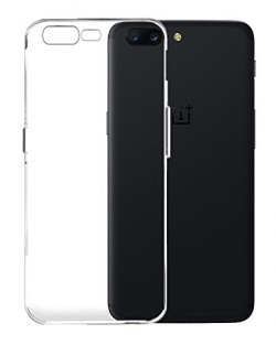 OnePlus 5 Back Cover Case, Crystal Clear Series Soft Premium Transparent TPU, Ultra Light Slim, Flexible, Perfect Fit for One Plus 5 by Golden Sand