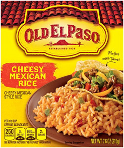 Old El Paso Ready To Cook Cheesy Mexican Rice, 215g