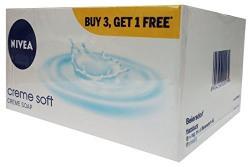 Nivea Creme Care Soap,75g (Buy 3 Get 1 Free)