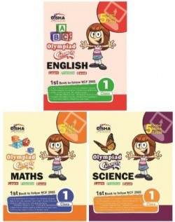 Olympiad Champs Science, Mathematics, English Class 1 with 15 Online Mock Tests (Set of 3 Books)