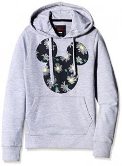 Mickey & Friends Girls' Sweatshirt (MF1DHG1274B_GREY MELANGE_13/14)