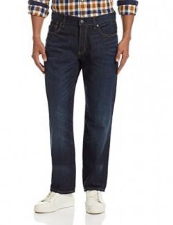 Aéropostale Men's Skinny Fit Jeans (95279083_AE6006189_30W x 32L_Dark Wash)