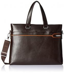 Albert and James Synthetic dark brown Messenger Bag