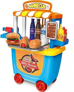 Saffire Barbecue House Play Set with Roller Case, 33 Pieces