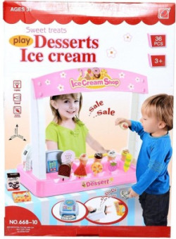 Planet of Toys Sweet Treats Ice Cream Parlour Toy (36 Pieces)