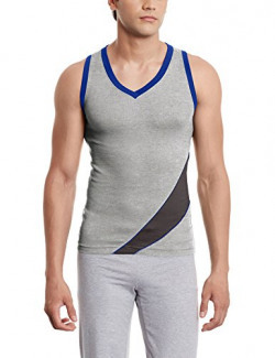 Euro Men's Cotton Vest (890397840425_Gv 10_X-Small_Grey Melange)
