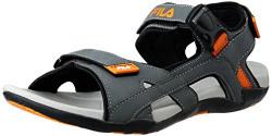 Fila Men's Lino Grey and Orange Sandals and Floaters - 9 UK/India (43 EU)