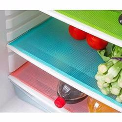 Kuber Industries™ Refrigerator Drawer Mat / Fridge Mat Set Of 6 Pcs (Multi Plastic)